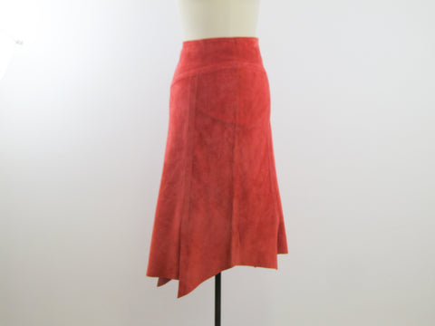 Coral leather skirt by Danier sz 2, A line skirt
