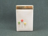 1950s Buxton leather business card case with flowers