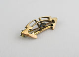 9K Art nouveau brooch, vintage whiplash pin