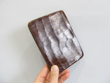 Antique alligator leather calling card case, passport cover