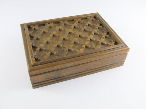 Rustic wooden jewelry box