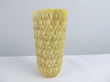 1000 faces carved bone cup with miniature dice