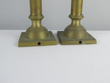 pair of brass candle holders / lamp bases