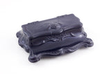 Victorian ebony stamp box