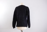 Black mohair sweater US sz 10 by Carella, made in Italy