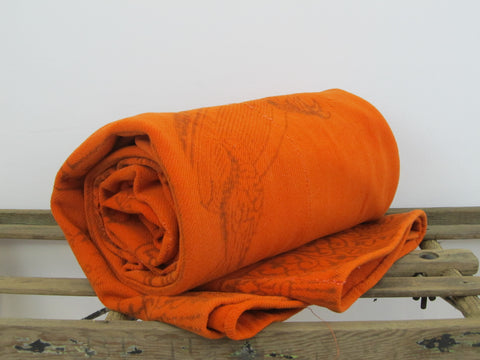 Antique orange wool blanket
