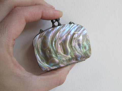Mother Of Pearl >> Victorian Shell Sovereign Coin Purse Mother Of Pearl Small Wallet