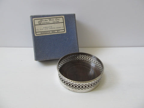 Vintage silver plated key tray, EPNS trinket dish, bottle coaster with original retail box