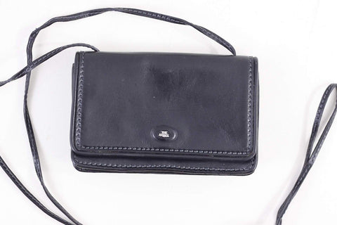 dac5996aee ... The Bridge black leather shoulderbag, crossbody handbag, small festival  bag, genuine leather purse ...