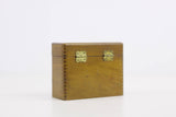 Wooden business card case, credit card storage box, small wooden box, cigarette case, general stowage, vintage wooden box, dovetailed box