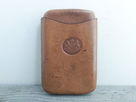 Antique English leather cigar case Aonian Regd.