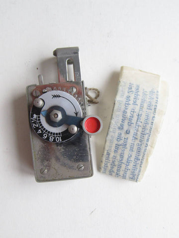 Vintage photography shutter release, steampunk gadget, in original leather case with (German) instructions by Framex