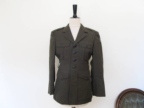 Vintage army dress jacket size 36 XS, green army jacket