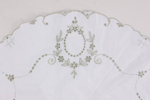 broderie anglaise hand embroidered vintage table cloth, White Cotton Wedding Shower, madeira embroidery classic home decor