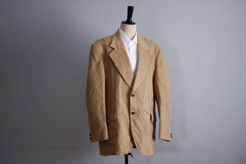 Vintage camel hair jacket size 44, Parkhaven 1970s tan blazer, luxury loomed camel hair sport coat