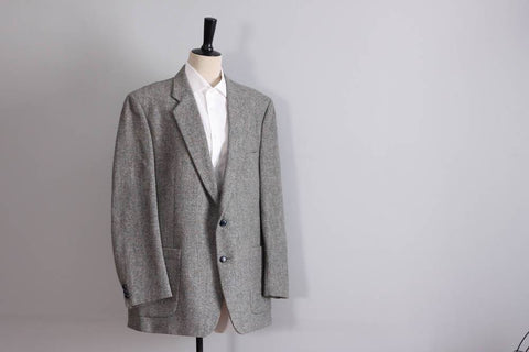 Eaton tweed blazer, soft grey Harris Tweed jacket, classic harris tweed coat, vintage jacket