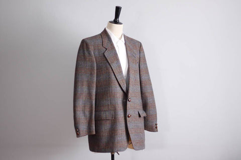 Vintage wool blazer, Country Squire check blazer, pure wool jacket, Gabriel gentlemans clothier
