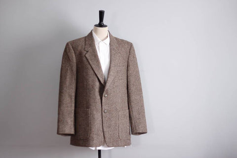 Harris tweed jacket, brown hacking jacket, sport coat, vintage tweed blazer men