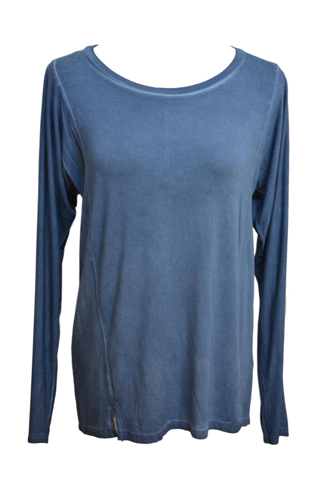 Denim Blue Pigment Washed Tee