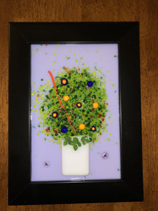 Fused Glass Floral Pictures