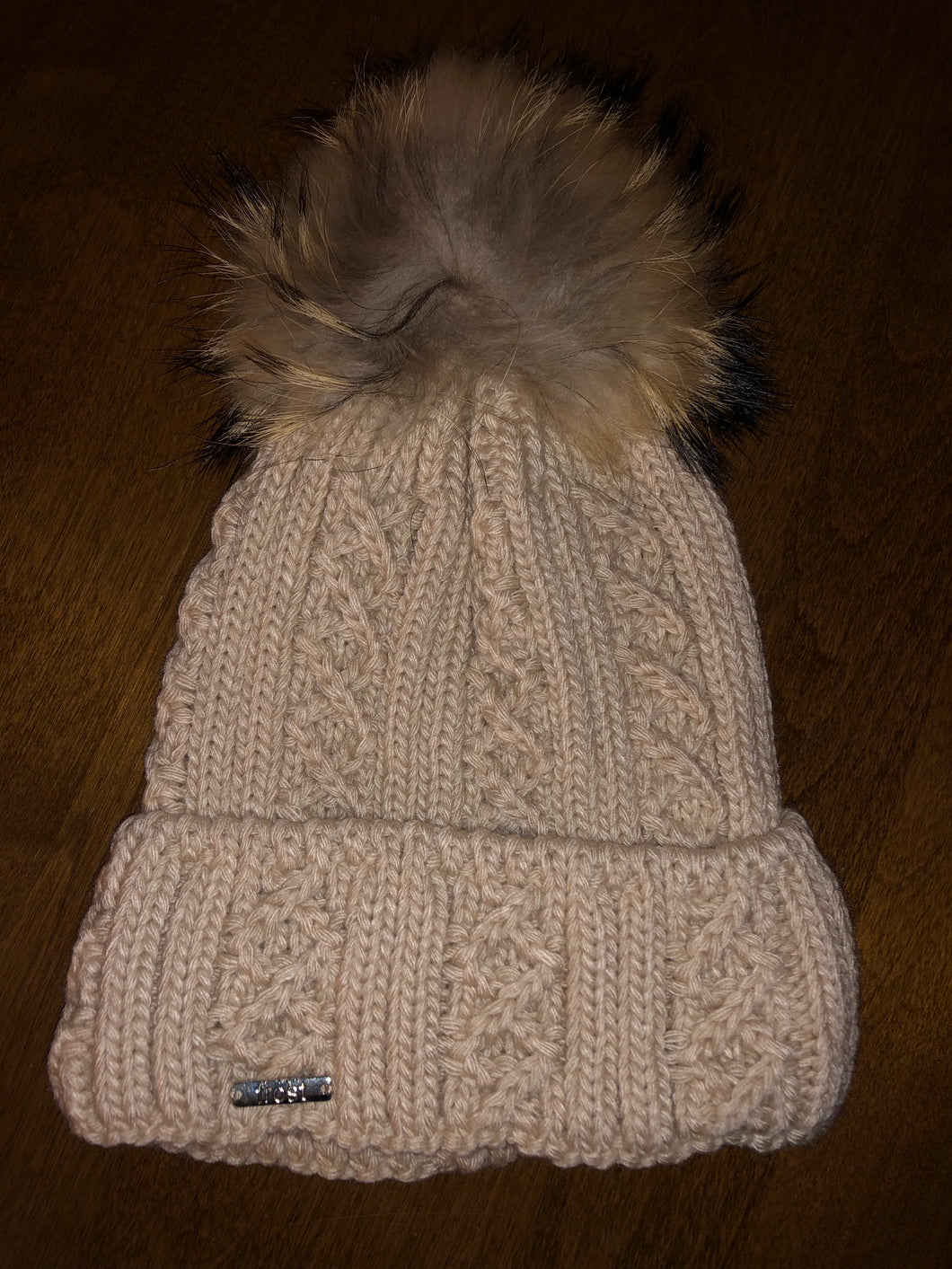 Knit Hat with removable Pom Pom