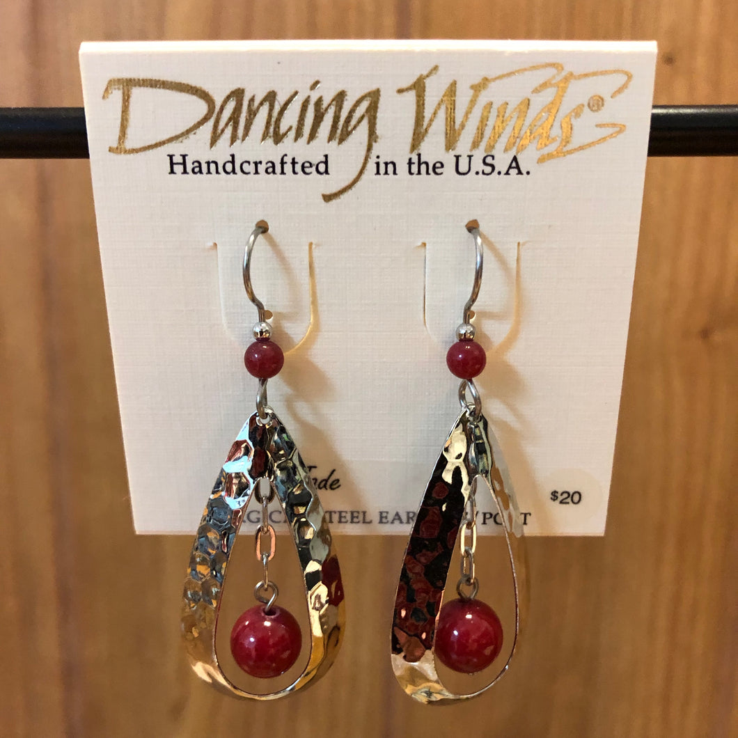 Dancing Winds Jade Earrings