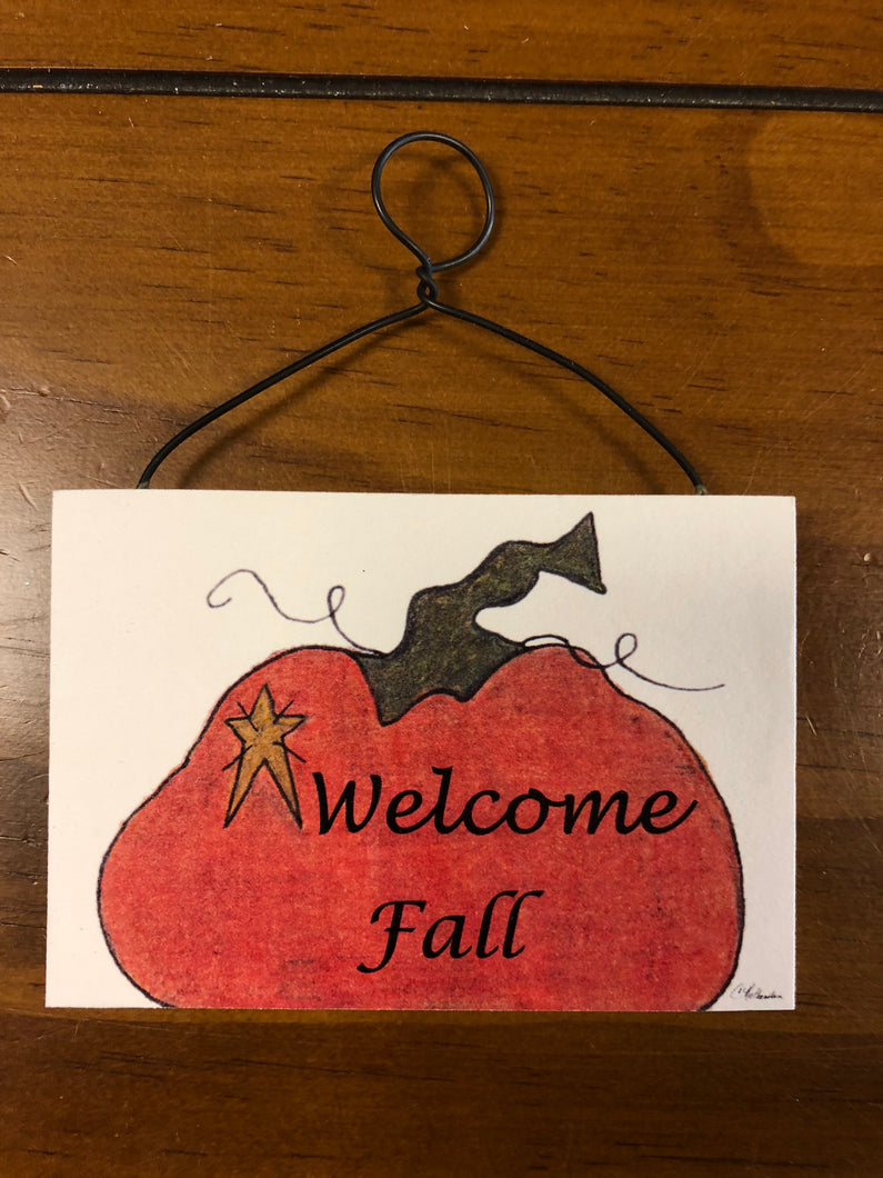 Mini Plaque Halloween & Fall