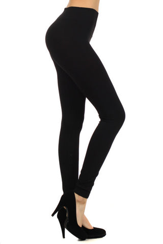 Super Soft Solid Leggings (Black, Charcoal, Chocolate & Burgundy)