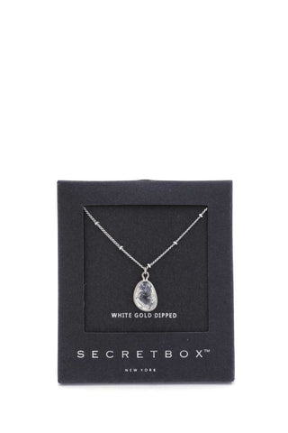 Secret Box Stone Charm Necklace