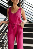 Jump In Jumpsuit In Hot Pink