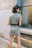 Illusions Olive Short Romper