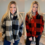 Buffalo Check Faux Fur Jacket