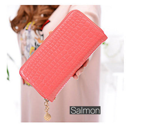 Color Pop Double Zip Wallet