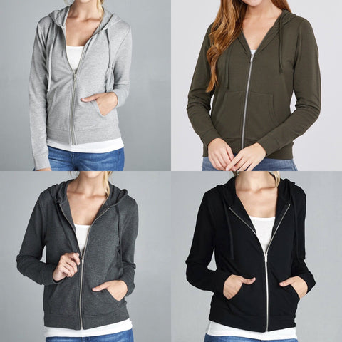 Long Sleeve Zipper French Terry Hoodie