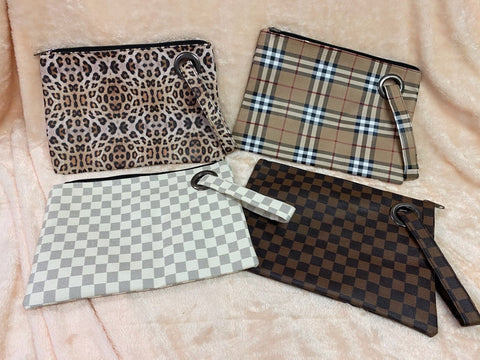 Checkered, Leopard & Plaid Wristlets
