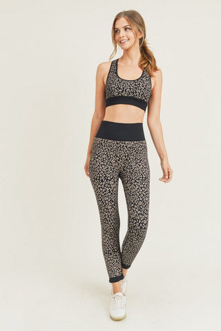 Cheetah Print Activewear Set in Black