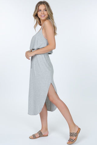 Spaghetti Strap Dress in Heather Grey