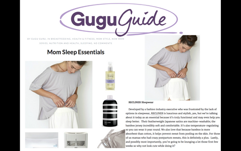 Sleep essentials for mom, courtesy of Gugu Guru