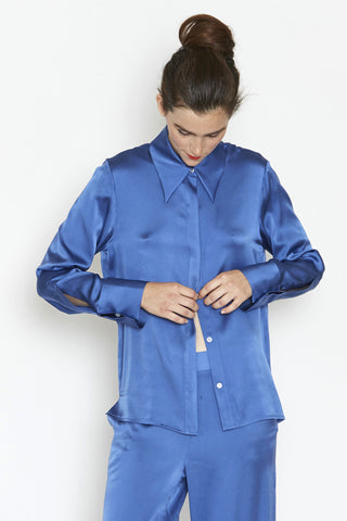 Point Collar Shirt - Toothpaste