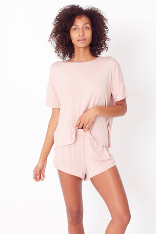 Sleep Tee Set - Blush