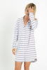 PJ Shirt Dress - Twilight Stripe