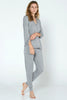 Long Sleeve Pajama Top - Brushed Grey