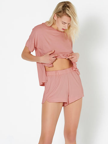 Super-stretch Sleep Short - Bright Blush