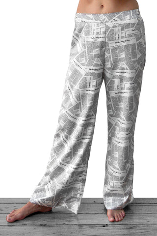 Wide Leg Pant - Newspaper