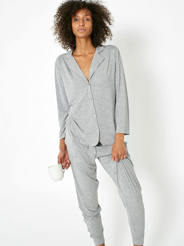Classic PJ Set - Brushed Grey