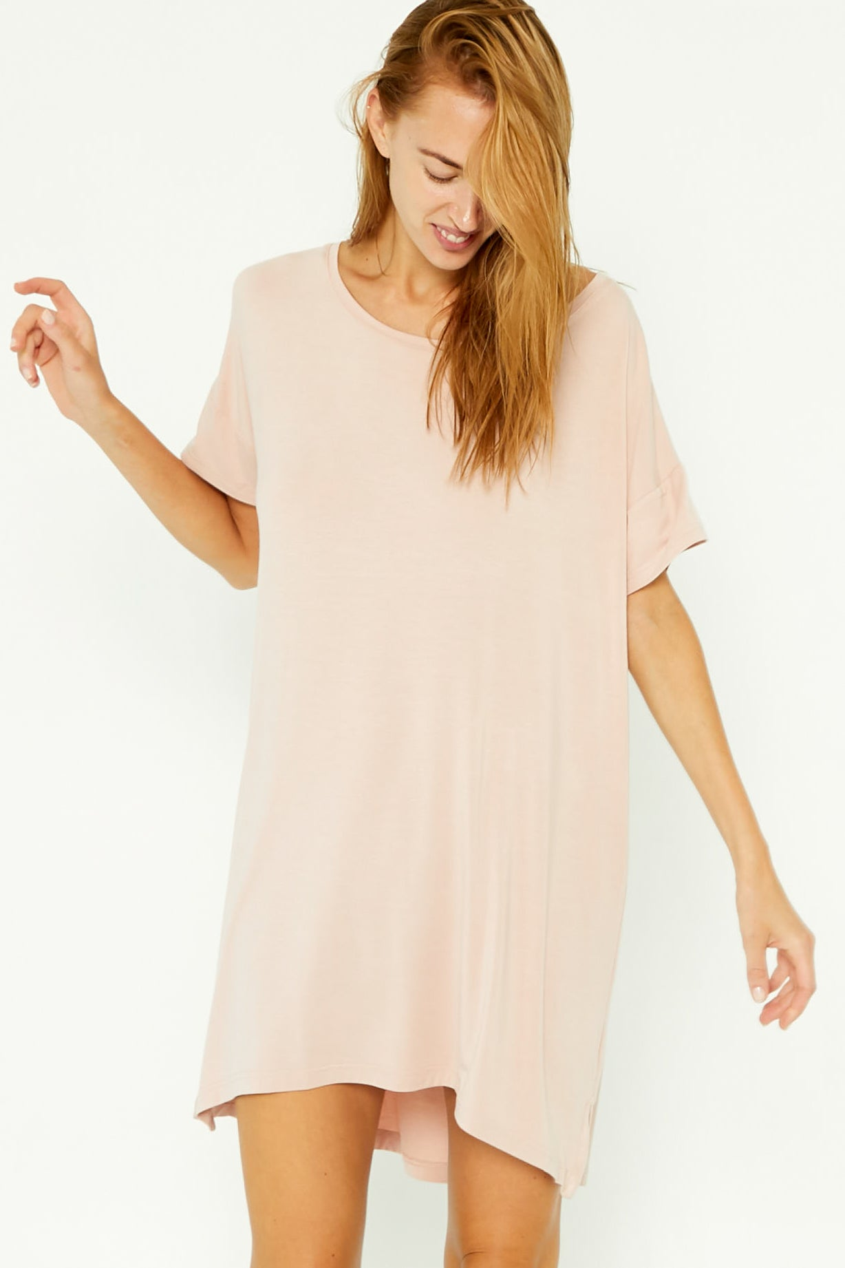 Night-Tee Sleep Dress - Blush