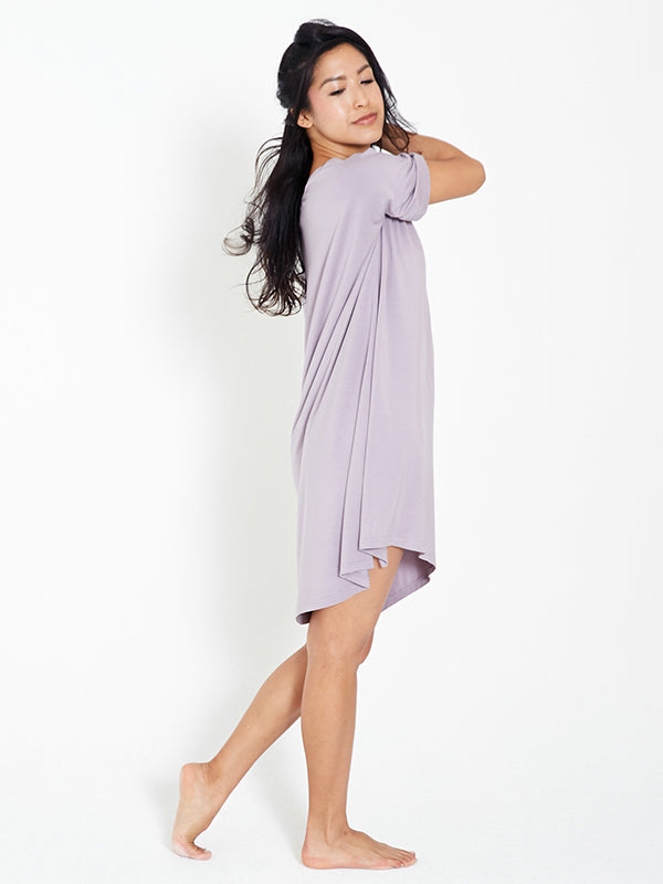 Night-Tee Sleep Dress - Lilac Smoke