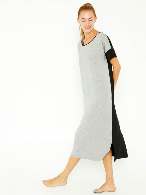 Night-Tee Sleep Dress V2 - Brushed Grey