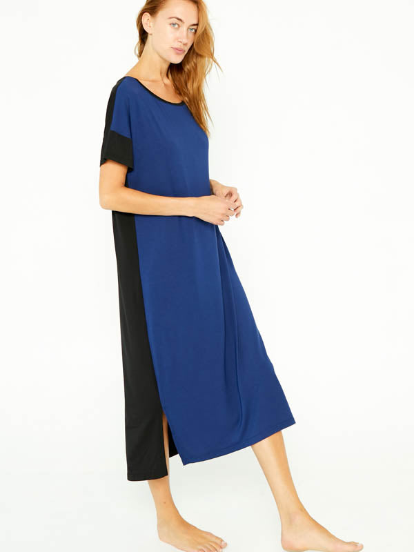 Night-Tee Sleep Dress V2 - Navy Blue