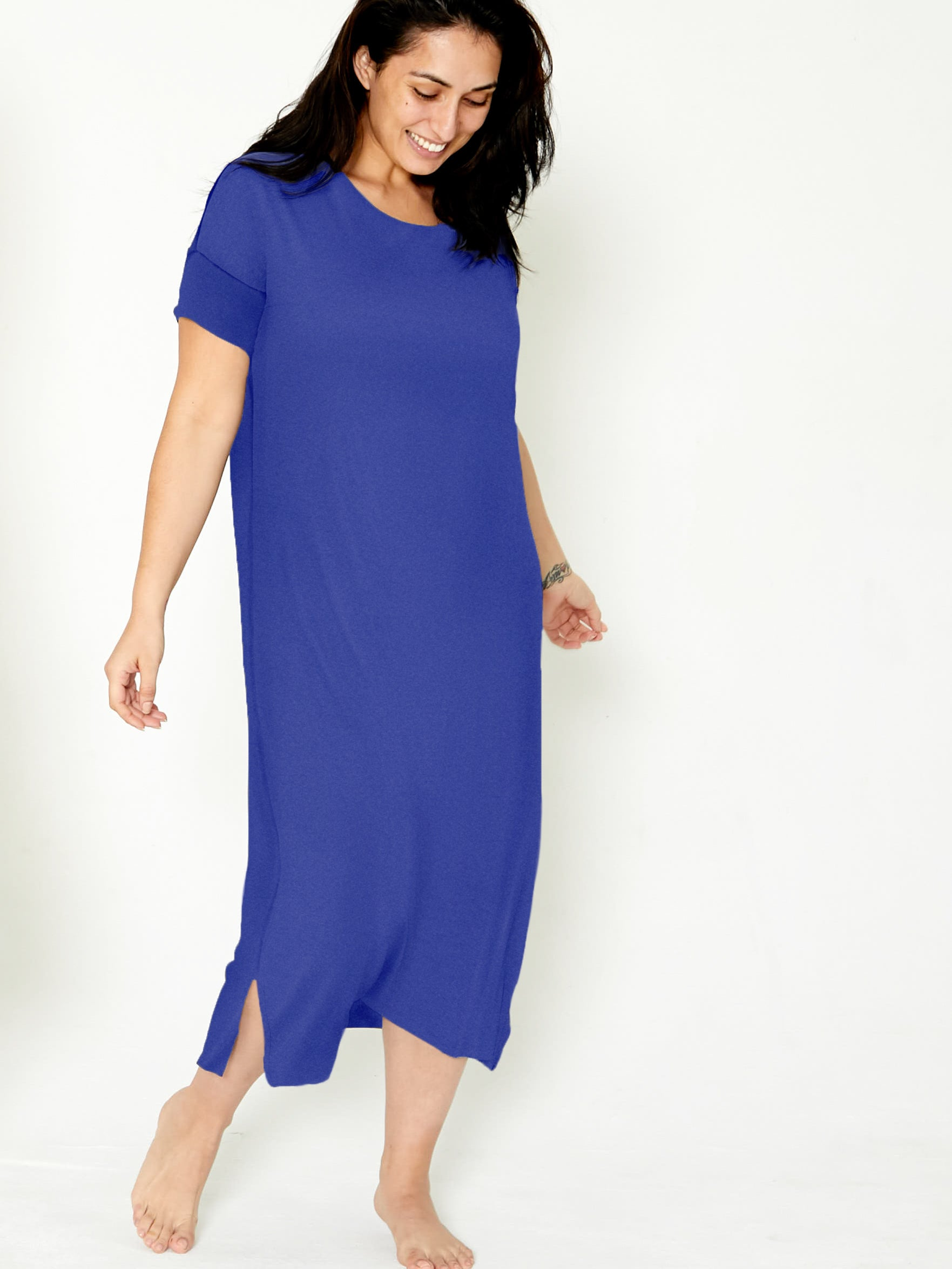 Night-Tee Sleep Dress V2 - Ripe Plum